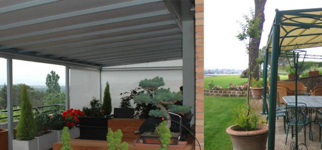 Arredare giardini e terrazzi con tende e pergole
